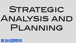 Strategic Analysis and Planning