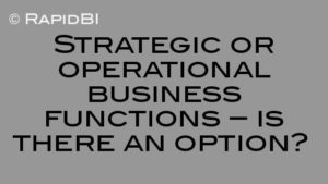 Strategic or operational business functions – is there an option?