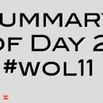 Summary of Day 2 #wol11