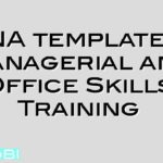 TNA template – Managerial and Office Skills Training