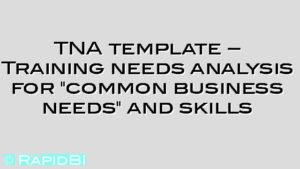 "TNA template – Training needs analysis for ""common business needs"" and skills"