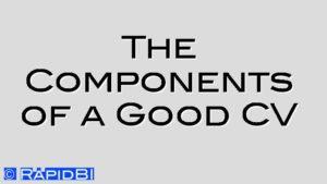 The Components of a Good CV