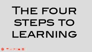 The four steps to learning