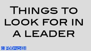 Things to look for in a leader