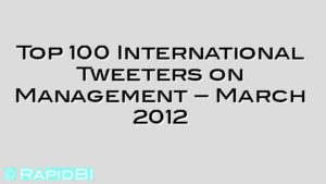 Top 100 International Tweeters on Management – March 2012
