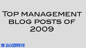 Top management blog posts of 2009