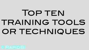 Top ten training tools or techniques
