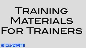 Training Materials For Trainers