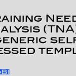 Training Needs Analysis (TNA) – generic self assessed template
