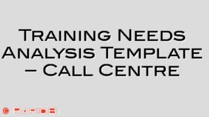 Training Needs Analysis Template – Call Centre