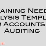 Training Needs Analysis Template for Accounts or Auditing
