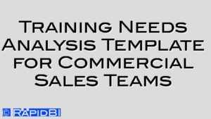 Training Needs Analysis Template for Commercial Sales Teams