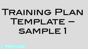 Training Plan Template – sample 1