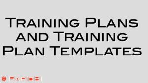 Training Plans and Training Plan Templates