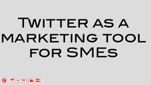 Twitter as a marketing tool for SMEs