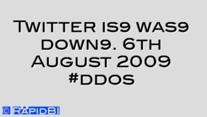 Twitter is… was… down…. 6th August 2009 #ddos