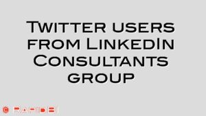Twitter users from LinkedIn Consultants group