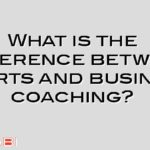 What is the difference between sports and business coaching?