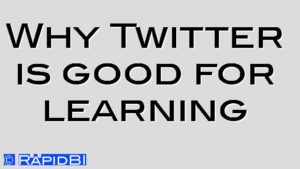 Why Twitter is good for learning
