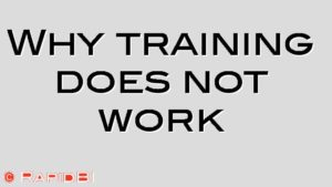 Why training does not work
