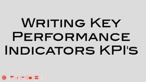 Writing Key Performance Indicators KPI's