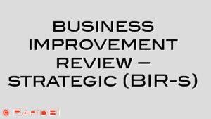business improvement review – strategic (BIR-s)