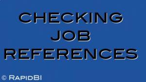 checking job references