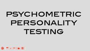 psychometric personality testing