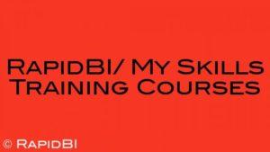 RapidBI/ My Skills Training Courses