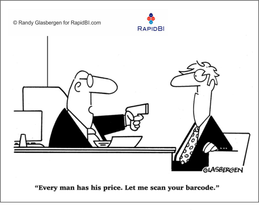 RapidBI-Cartoon (326) every man has his price - remuneration, pay