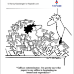 Fun Friday – Paperless office – weekly office cartoon #336 #ff