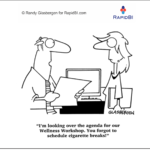 Fun Friday – Wellness & meeting skills Weekly office cartoon #346 #hrblog