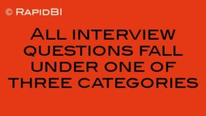 All interview questions fall under one of three categories