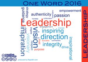 One word 2016 Leadership Trends