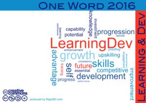 One word 2016 learn dev trends