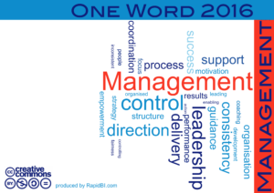 One word 2016 management