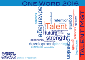 One word 2016 talent management Trends