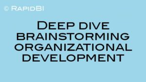 Deep dive brainstorming technique for organizational development