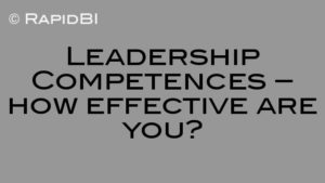 Leadership Competences – how effective are you?
