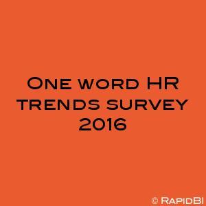 One word HR trends survey 2016