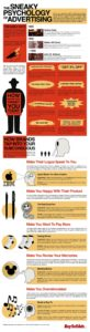 the sneaky psychology of advertising infographic