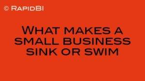 What makes a small business sink or swim