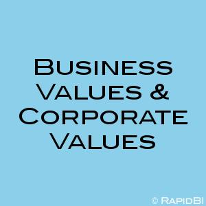 Business Values & Corporate Values