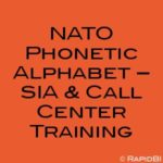 NATO Phonetic Alphabet – SIA & Call Center Training