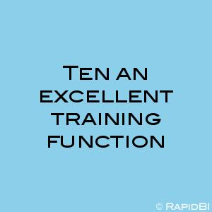 Ten an excellent training function