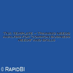 """TNA template – Training needs analysis for """"common business needs"""" and skills"""