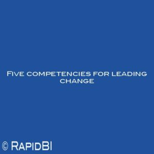 Five competencies for leading change