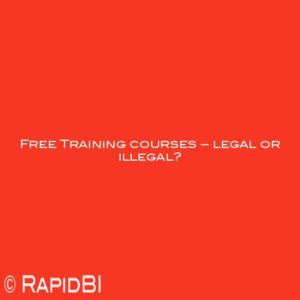 Free Training courses – legal or illegal?