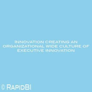 Innovation creating an organizational wide culture of executive innovation