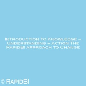 Introduction to Knowledge – Understanding – Action The RapidBI approach to Change